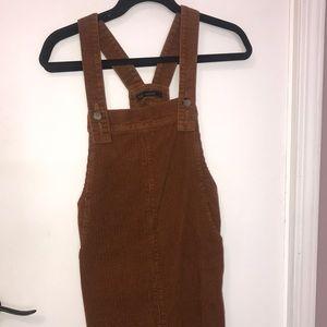 Corduroy brown overalls